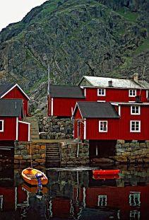 Lofoten maison rouge