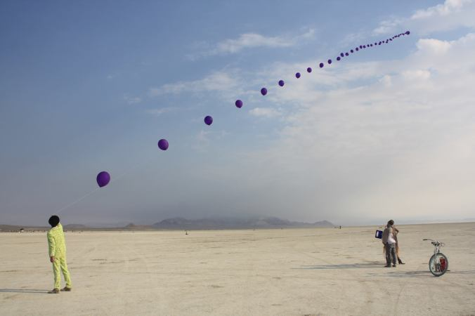 balloon burning man